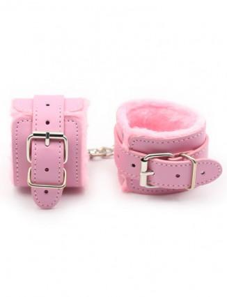 Erótico Esposas Color Rosa De Peluche Esposas Productos adultos pares flirten juguete - 1