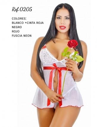 Baby solo con cinta y tanga brasilera - Lencería sexy - 1