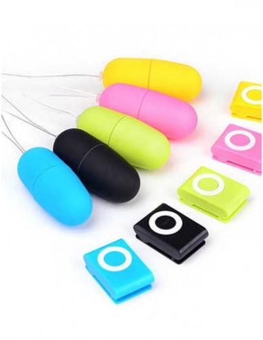 Huevo Vibrador Inalámbrico Con Mando a Distancia MP3, 20 Velocidades - 4