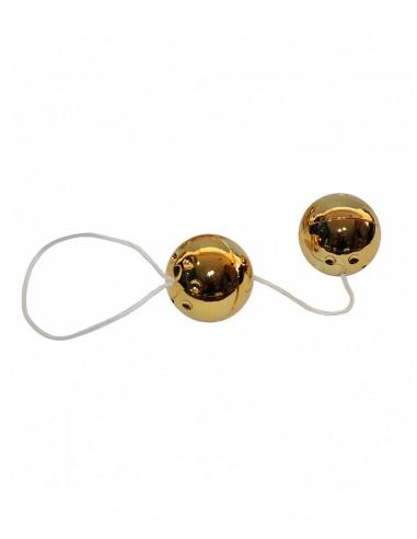 Bolas Chinas Yum Balls Doradas Con Cordón - 1