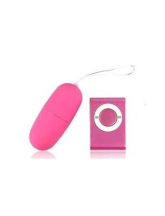 Huevo Vibrador Inalámbrico Con Mando a Distancia MP3, 20 Velocidades - 3