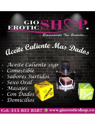Aceite Caliente Comestible Mas Dados - Lubricante Sexual G HOT -